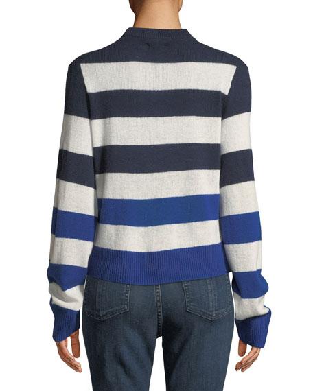 Annika Crewneck Striped Cashmere Sweater
