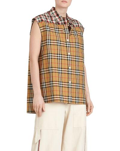 Hen Sleeveless Vintage Check Button-Front Shirt Quick Look. Burberry 2266f4966de