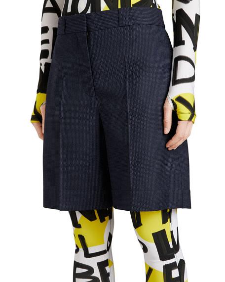 Burberry Tailored Pindot Wool Bermuda Shorts