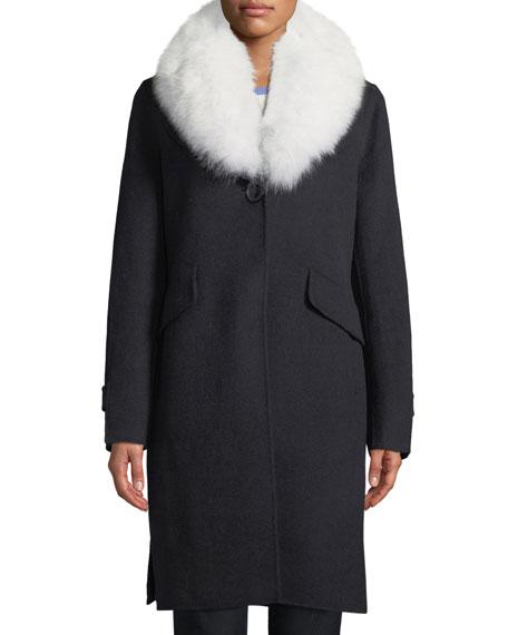Derek Lam 10 Crosby Wool-Blend Midi Coat w/