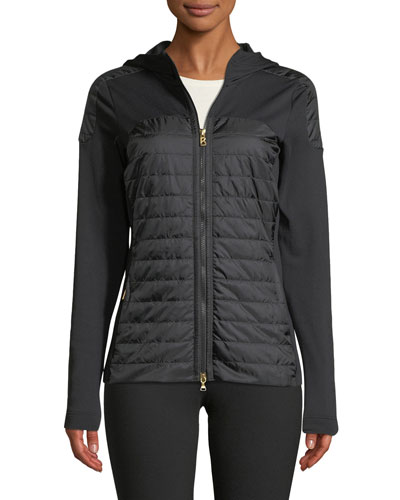 Colby Long-Sleeve Zipper-Front Fitted Jacket