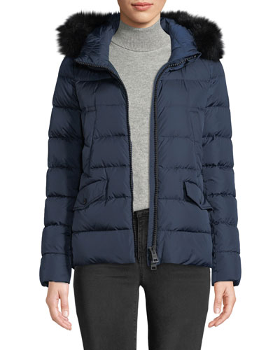 Down Coat w/ Detachable Fur & Hood