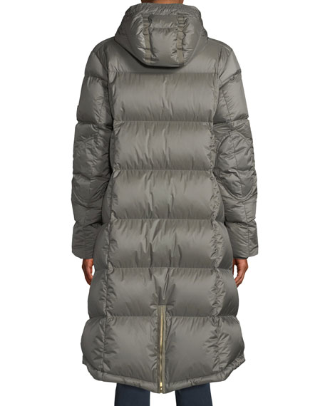 Malen Long A-Line Puffer Coat w/ Hood