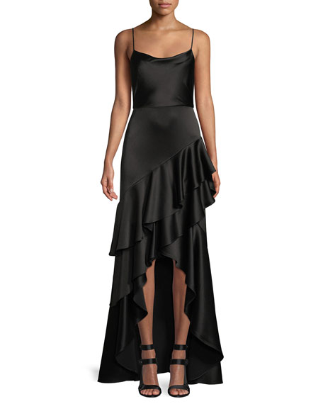 Alice And Olivia Gowns LAURALEI RUFFLE HIGH-LOW GOWN