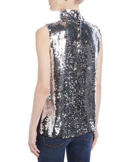 4dbd22ad54d8c Tibi Turtleneck Sleeveless Sequin Shell and Matching Items