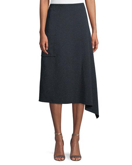 Tibi Eclipse Pique Origami A Line Midi Skirt