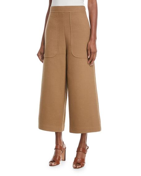 42dea0df Cropped Cotton Wide-Leg Pants