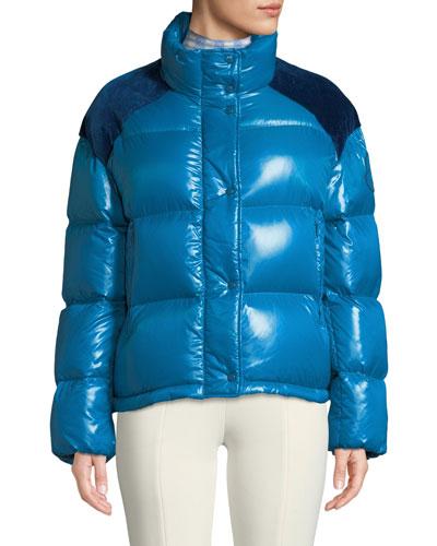 Moncler Genius Chouette Puffer Jacket w/ Contrast Shoulders
