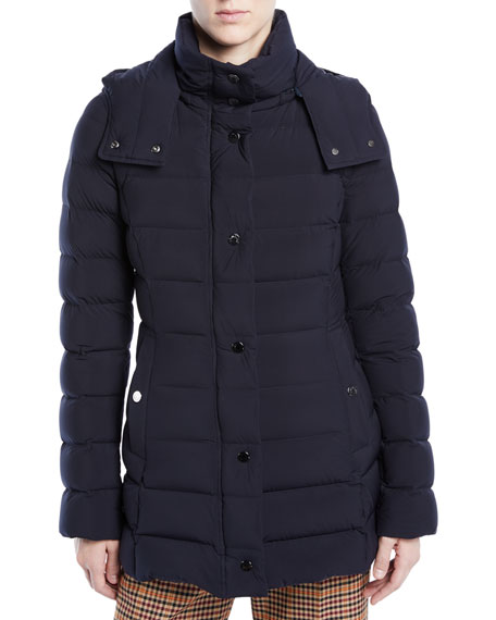 Moncler Harelde Channel-Quilted Puffer Coat 73dab0ecd4