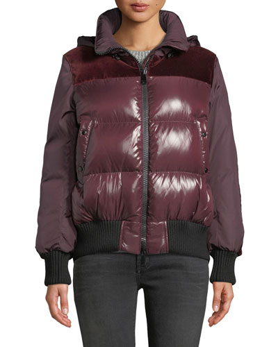 Elanion Puffer Jacket w/ Velvet Back