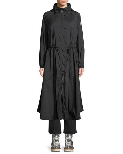 Mouette Long Raincoat w/ Removable Hood