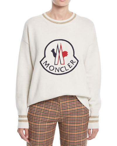 Logo Embroidered Pullover Sweatshirt