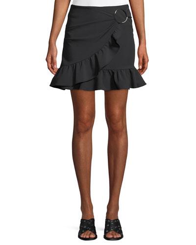 William Draped Ruffle Mini Skirt
