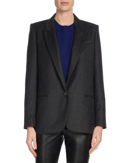 Igora Single-Button Wool Blazer