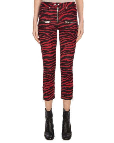 8782ab3cb22c Etoile Isabel Marant Alone Zebra-Print Cropped Trousers