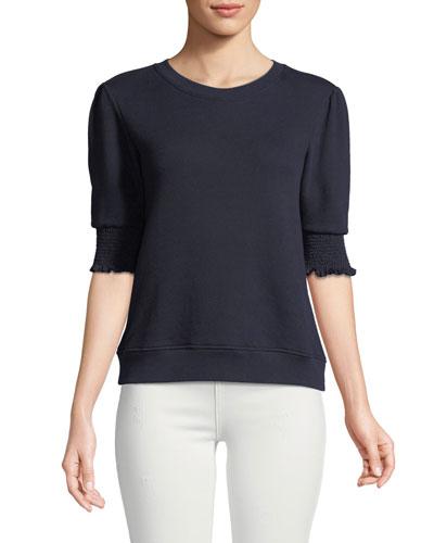 Maita Short-Sleeve Cotton Top