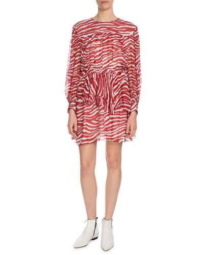 Java Printed Draped Short Dress