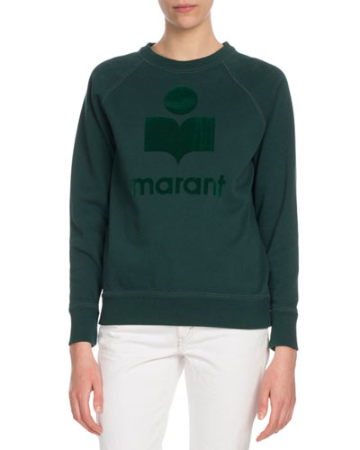 Milly Graphic Logo Crewneck Pullover Sweatshirt