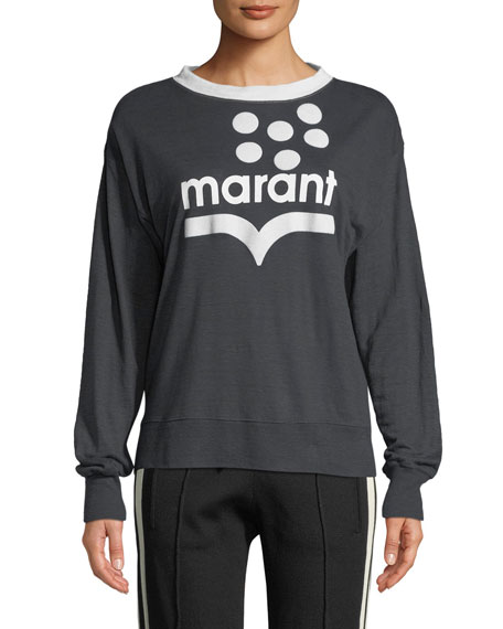 bc7e1102 Etoile Isabel Marant Klowyn Long-Sleeve Logo Tee