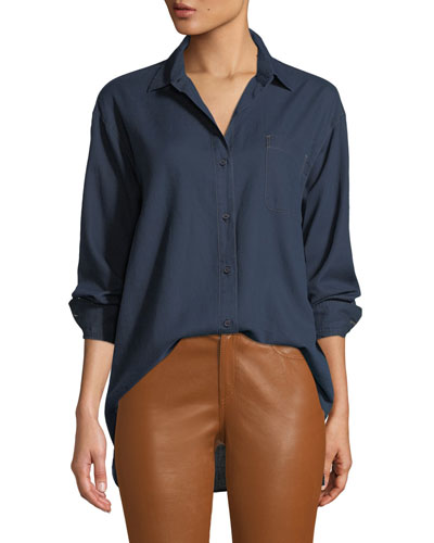 Everson Nocturnal Cotton Pocket Blouse
