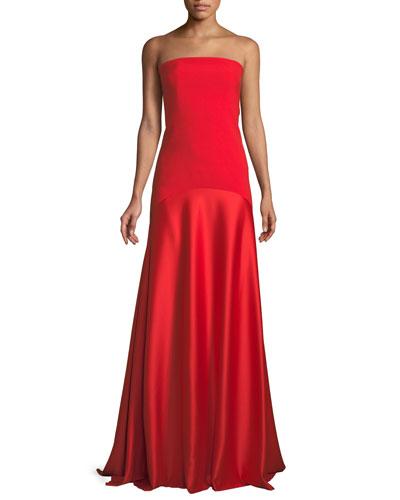 Allesandra Strapless Floor-Length Formal Dress