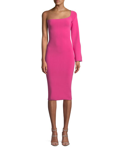 Fiorella One-Sleeve Bodycon Midi Dress