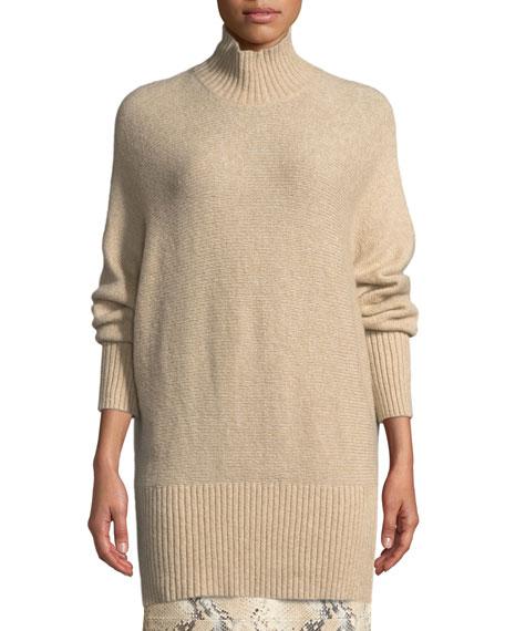 Lafayette 148 New York Brushed Cashmere-Silk Dolman Sweater