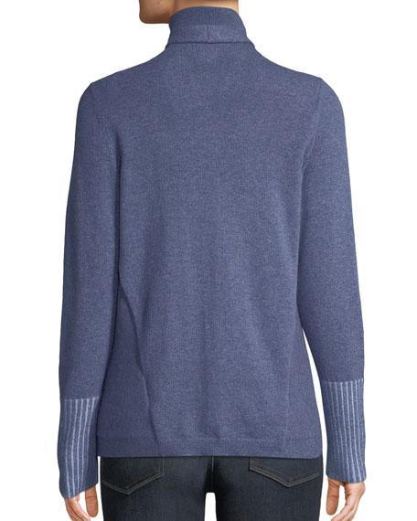 Cozy Cashmere Cascade Cardigan w/ Asymmetric Hem