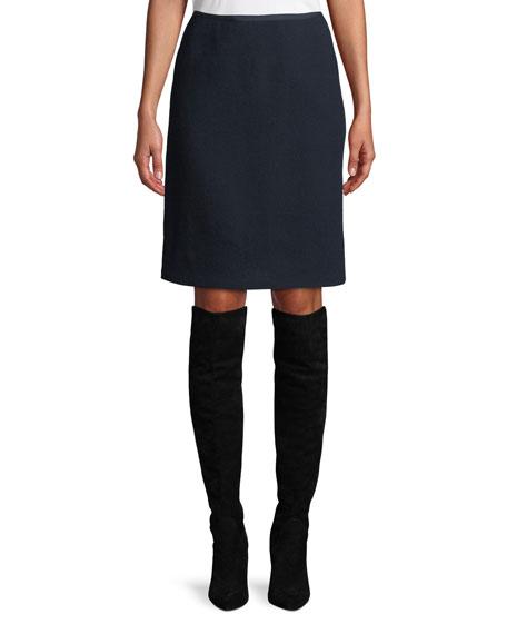 Tula Nouveau Crepe Wool Pencil Skirt