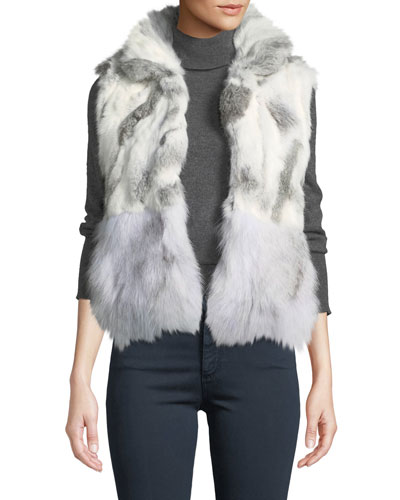 Short Patchwork Fur Vest