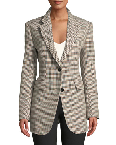 3e24a01ab399 Super-Cinch Fremont Plaid Long-Line Blazer Quick Look. Theory