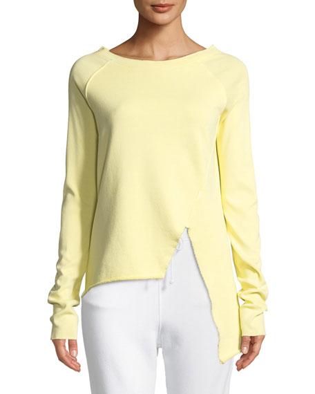 FRANK & EILEEN TEE LAB Asymmetric Cotton Sweatshirt, Yellow