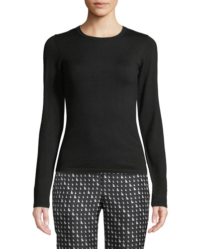 Slim-Fit Wool-Blend Pullover Sweater