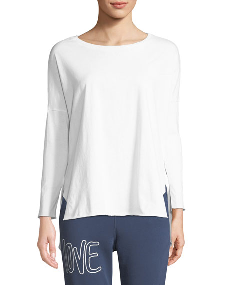 FRANK & EILEEN TEE LAB RELAXED LONG-SLEEVE HIGH-LOW COTTON TEE