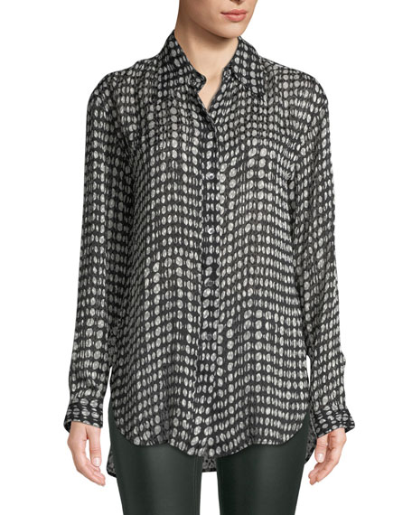 Weekender Printed Button-Front Shirt