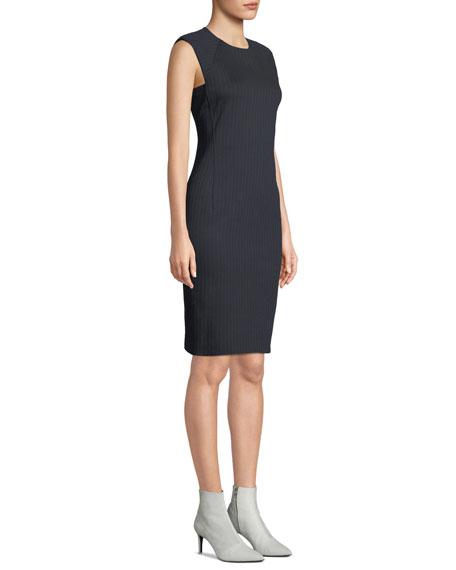 Pinstripe Knit Power Dress