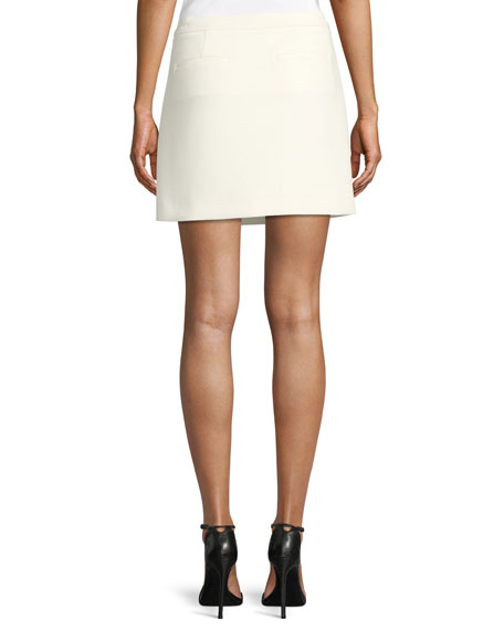 Draped A-Line Mini Skirt