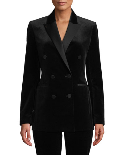 Stretch Velvet Tux Jacket