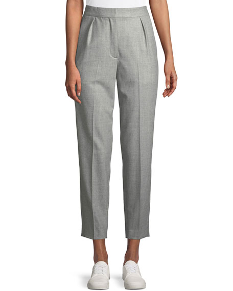 High-Rise New Pure Flannel City Pants, Gray
