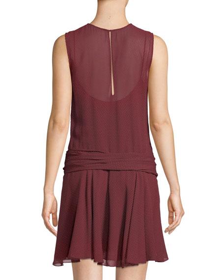2b21d3de7354 Theory Draped Dot-Print Chiffon Dress