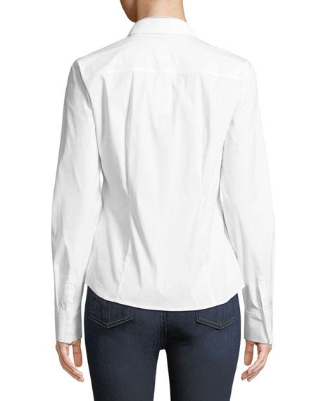 fc3caef1bd2744 Lafayette 148 New York Phaedra Blouse in Italian-Stretch Cotton