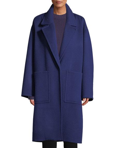 Patch Pocket Wool Car Coat
