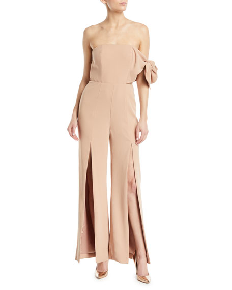 Misha LINSEY STRAPLESS FLARED-LEG PANTSUIT