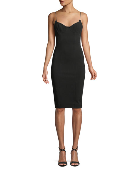 Scoop-Back Cocktail Sheath Dress