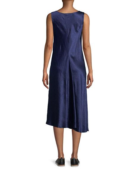 Bias-Cut Sleeveless Midi Dress