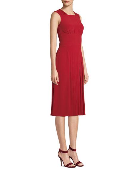 aec8368c395 No. 21 Pleated Sleeveless Midi Dress
