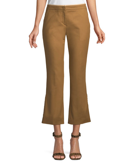 Cropped Flared Cotton Pants