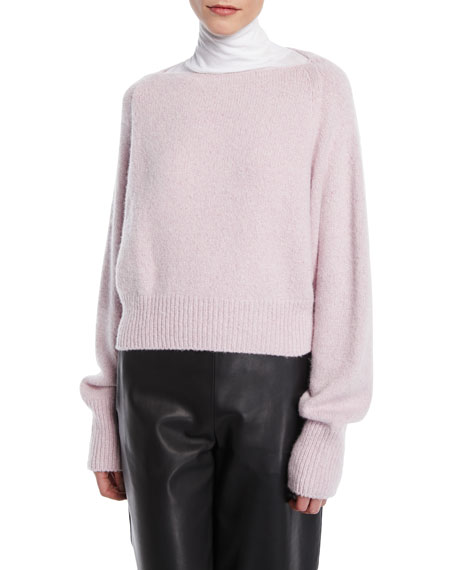 56c7222d4d Vince Cropped Boat-Neck Cashmere Sweater
