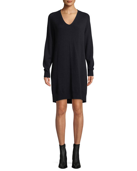cdceb0c6d13 Vince V-Neck Wool-Cashmere Sweater Dress