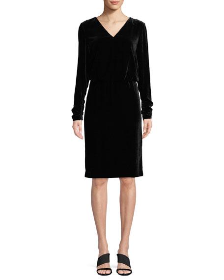 Lafayette 148 New York Josefina Velvet Dress w/